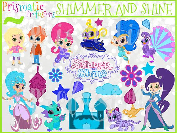 Paris clipart prismatic. Shimmer and shine papergoods