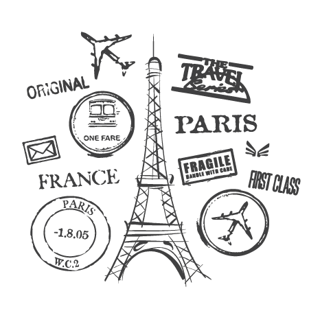 Paris quote png. Postmarks collage wall quotes