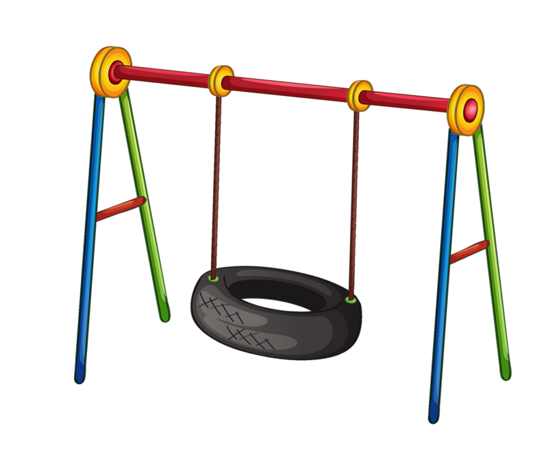 Swing clipart school playground. Png cliparts kids