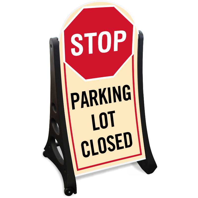 Parking lot clipart black and white. Closed signs zoom price