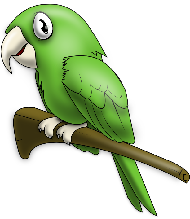 Vector parrot cute. Free cliparts download clip