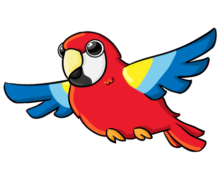 vector parrot animated