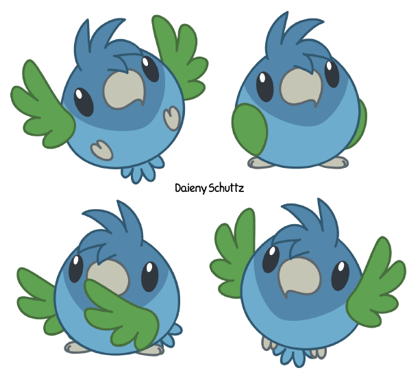 Parrot clipart chibi. Reichenow s by daieny