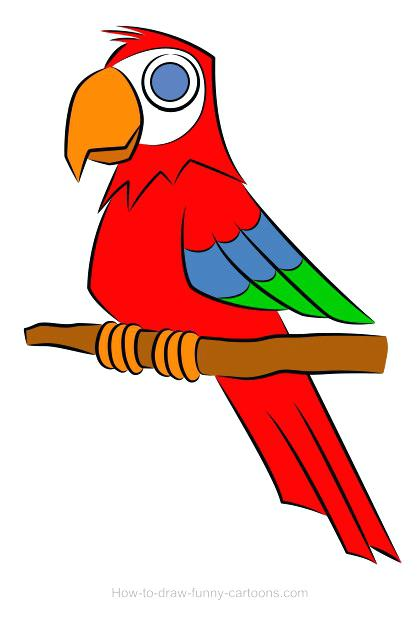 Parrot clipart colourful parrot. Flying drawing at getdrawings