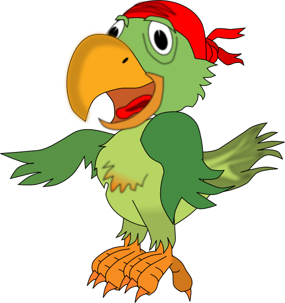 Vector parrot realistic cartoon. Free pictures of parrots