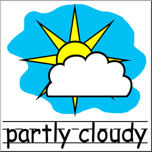 Rainy clipart weather word. Sunny at getdrawings com