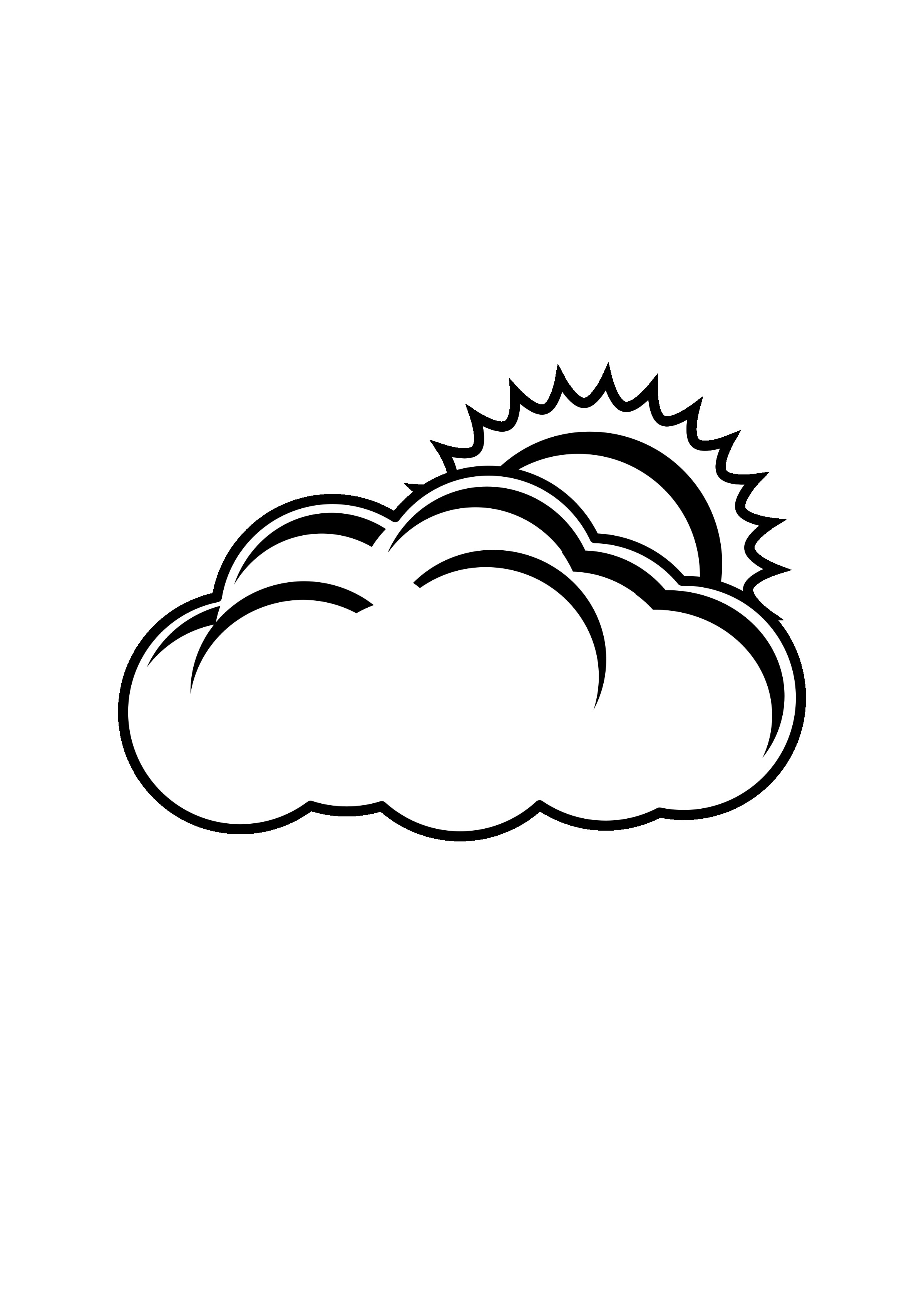 Partly clipart clipart black. Cloudy in back and