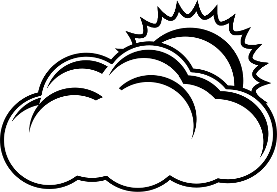 Partly clipart clipart black. Cloudy cilpart sweet looking
