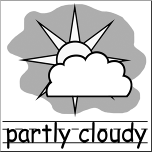 Partly clipart clipart black. Clip art weather icons