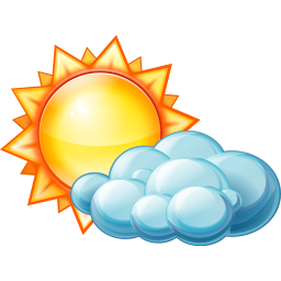 Partly clipart cloudy clipart. Cloud day weather sunny