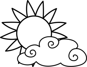 Partly clipart partly cloudy. Free weather image icon