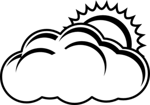 Partly clipart partly cloudy. Sunny forecast outline clip