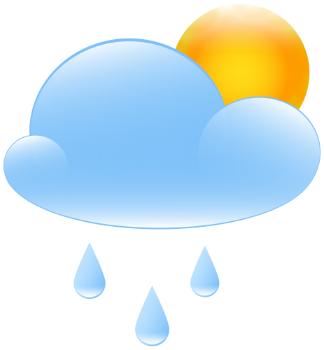raining clipart weather icon
