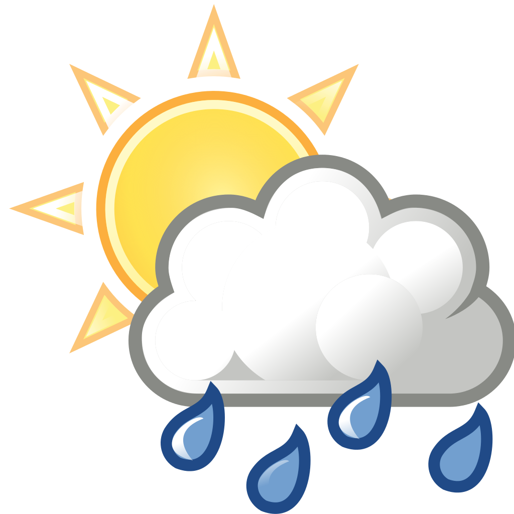 Partly clipart rain. Weather sun clouds