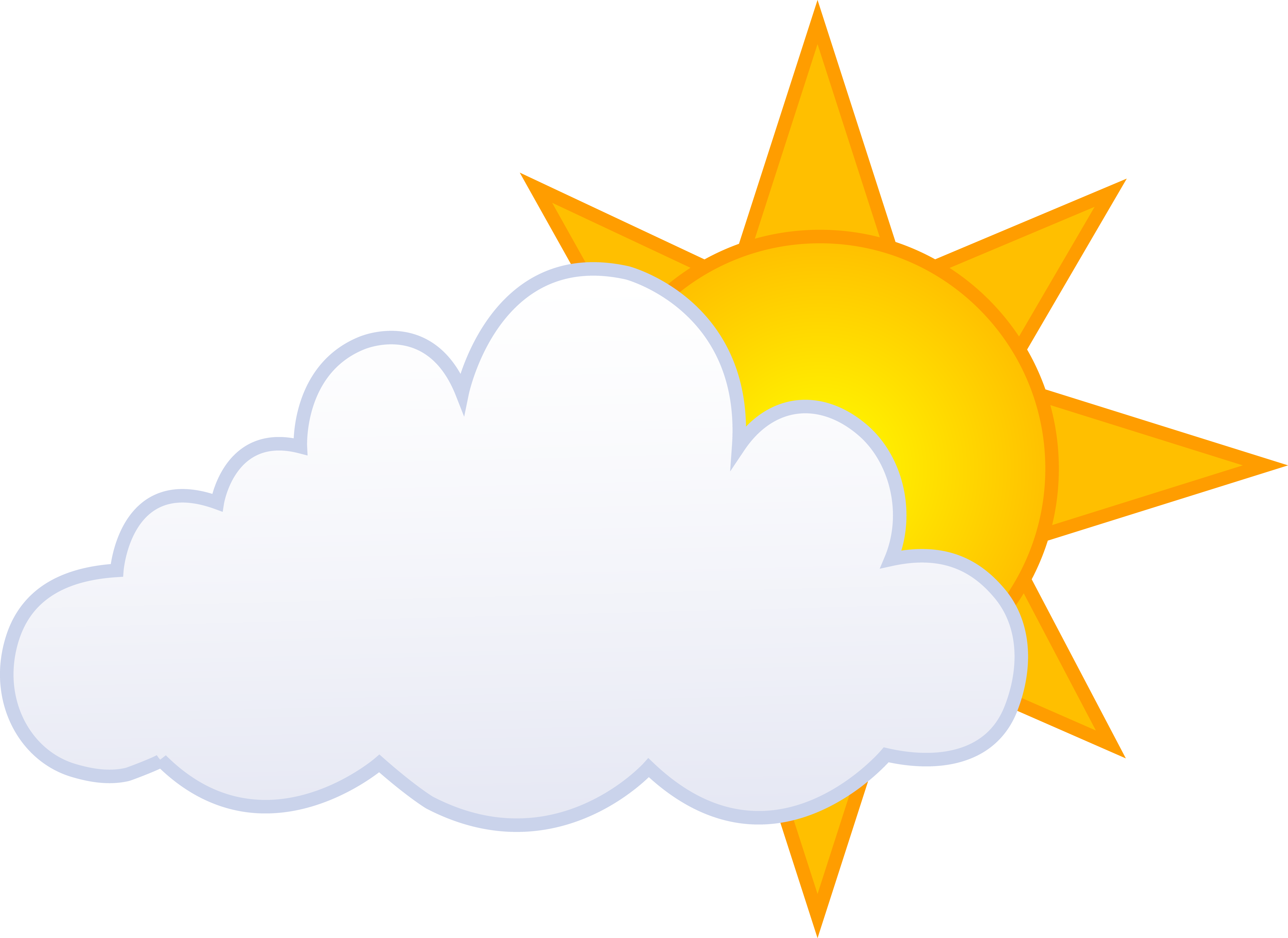 Partly clipart sunny. Weather at getdrawings com