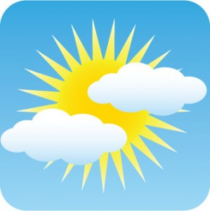 Partly clipart sunny. Skies return but cooler