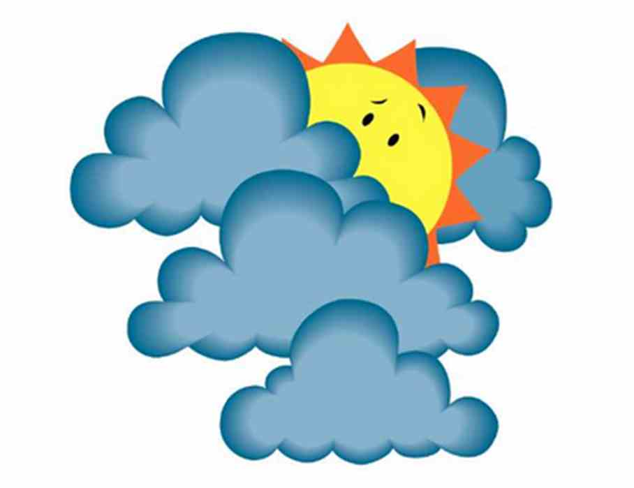 Cloudy clipart s cloudy. Sunny weather at getdrawings