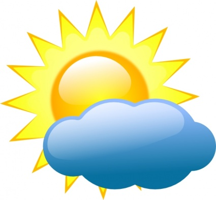 Partly clipart sunny. Mostly cloudy