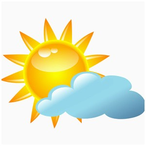 Partly clipart sunny. Cloudy elegant image gallery