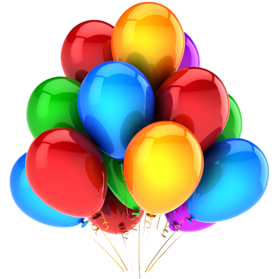 Party balloons png. Transparent background image