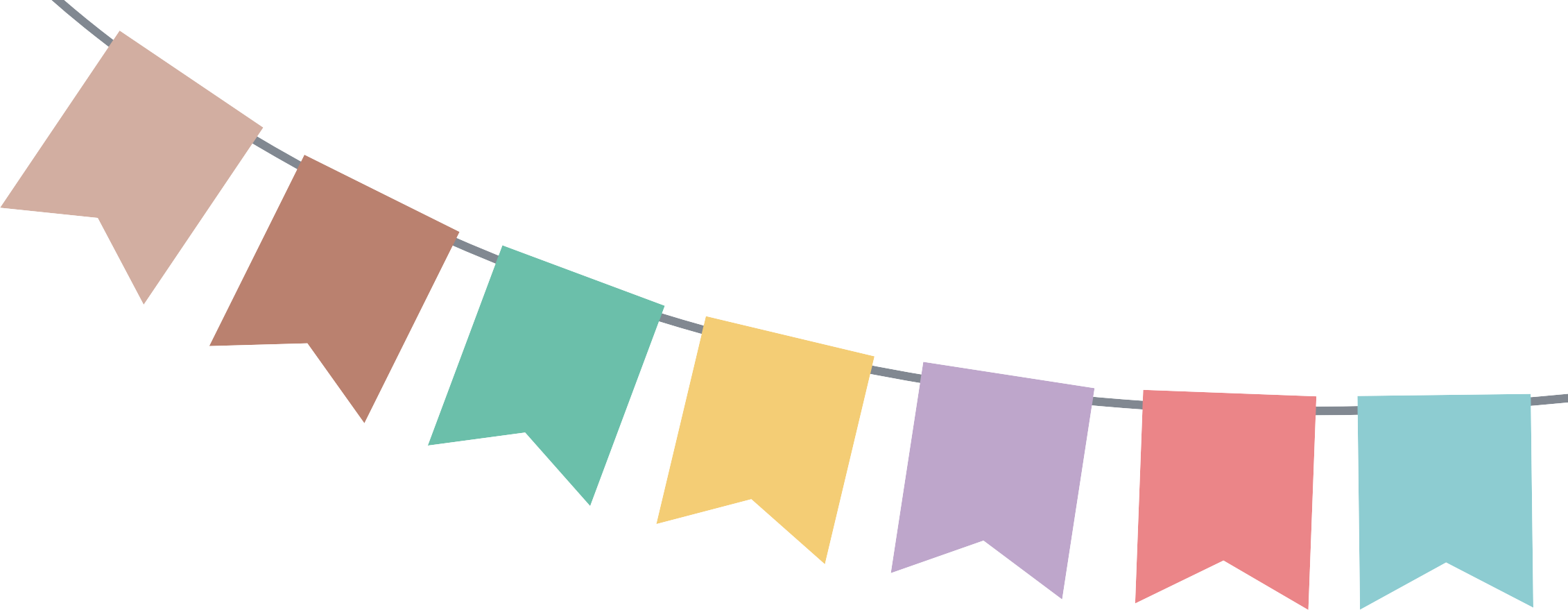 Party banner png. Halloween web bunting birthday