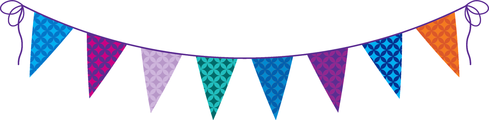 Party banners png. Birthday flag transparent images