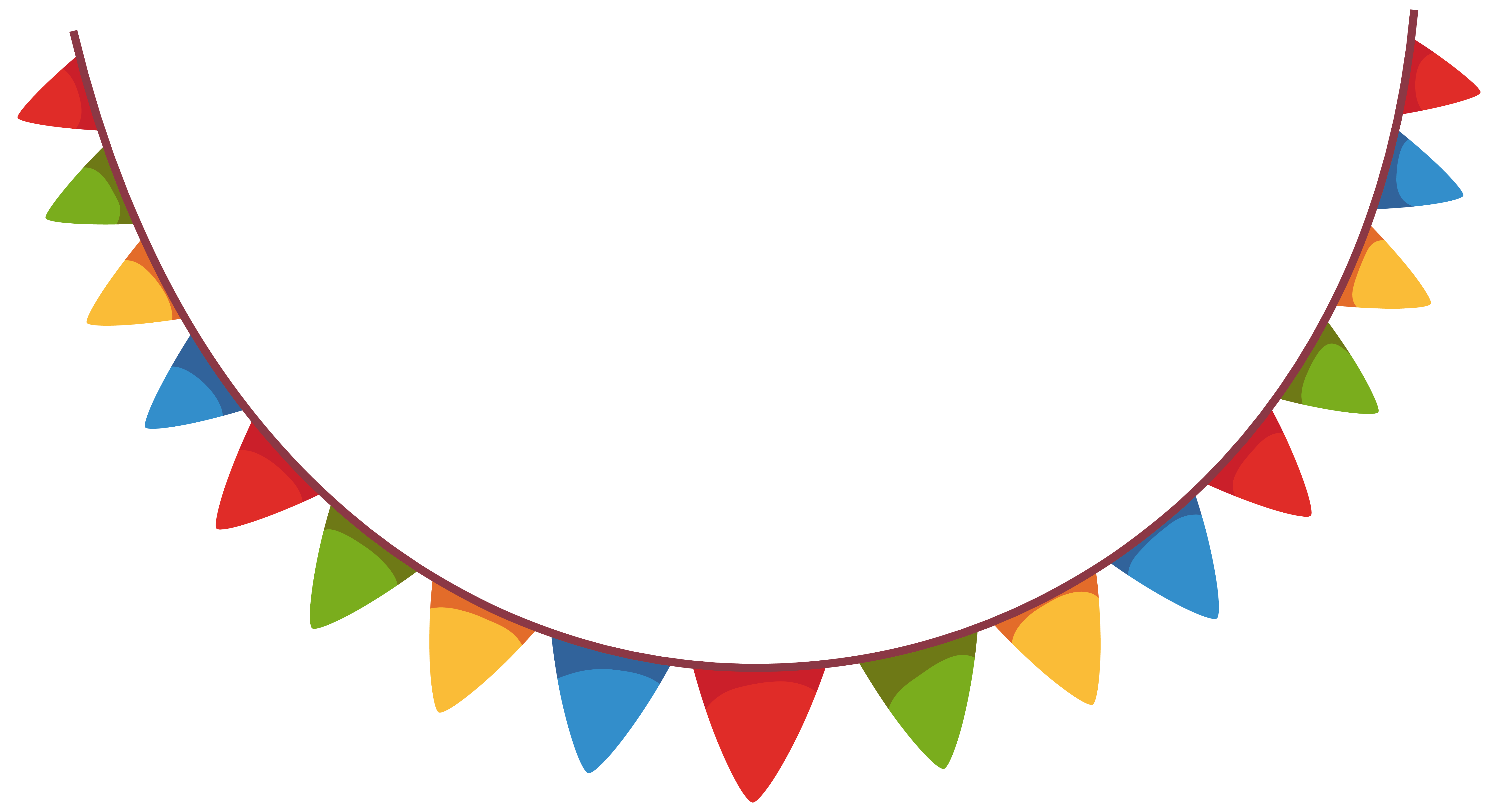 Party banners png. Streamer decoration clipart picture
