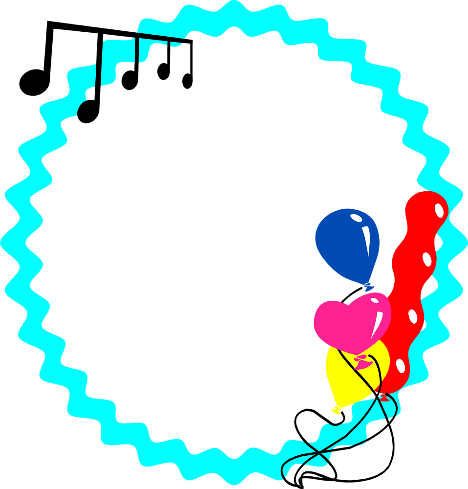 Party border png. Blue free stock photo