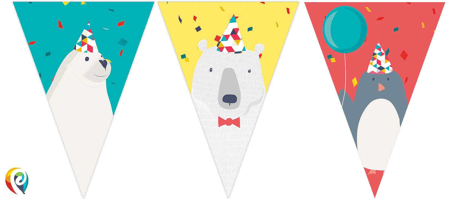 Party bunting png. Arctic decorations fun supplies