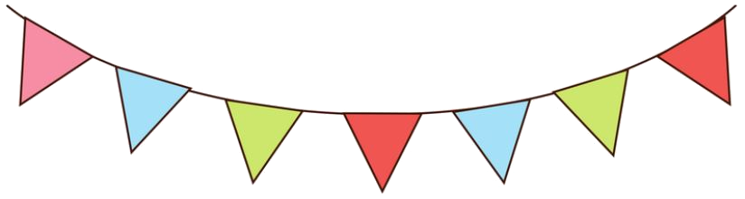 Party bunting png. Julie falatko
