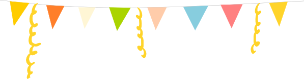 Party bunting png. Free printable celebration card