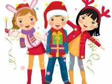 Party clipart school party. Christmas kids lochardil primary
