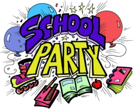 Party clipart school party. End of