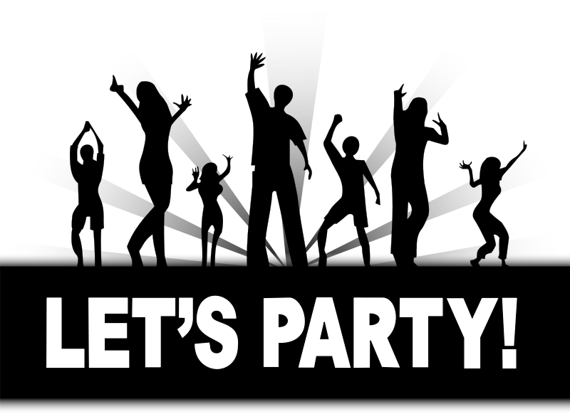 Party people dancing png. Clipart disco clip art