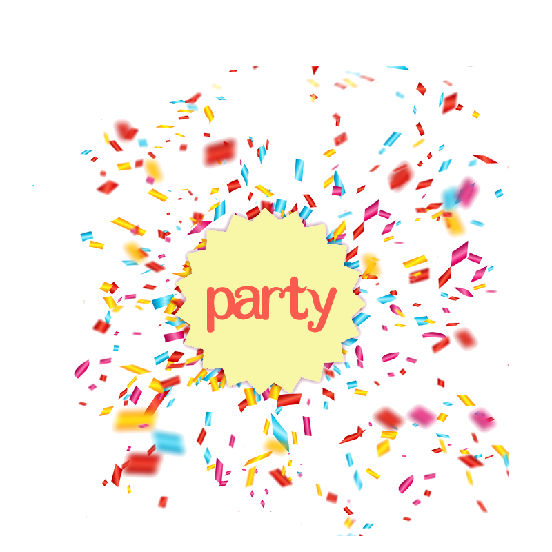 Party confetti png. Clip art transprent free