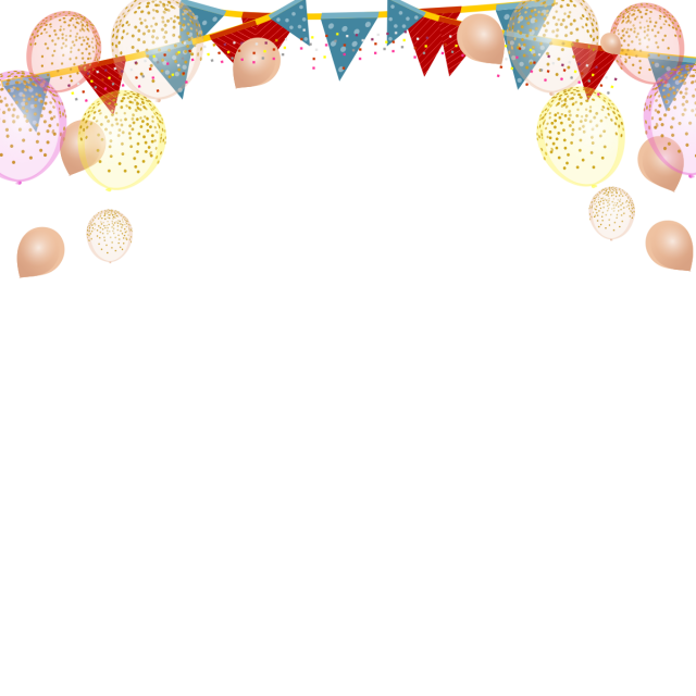 Party decoration png. Children background balloons vector