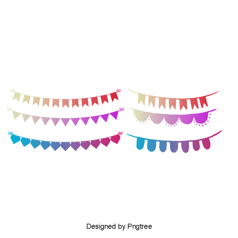 Bunting vector lace. Small party flags decorations