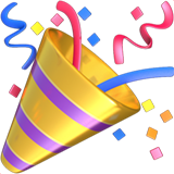 Party popper png. On apple ios