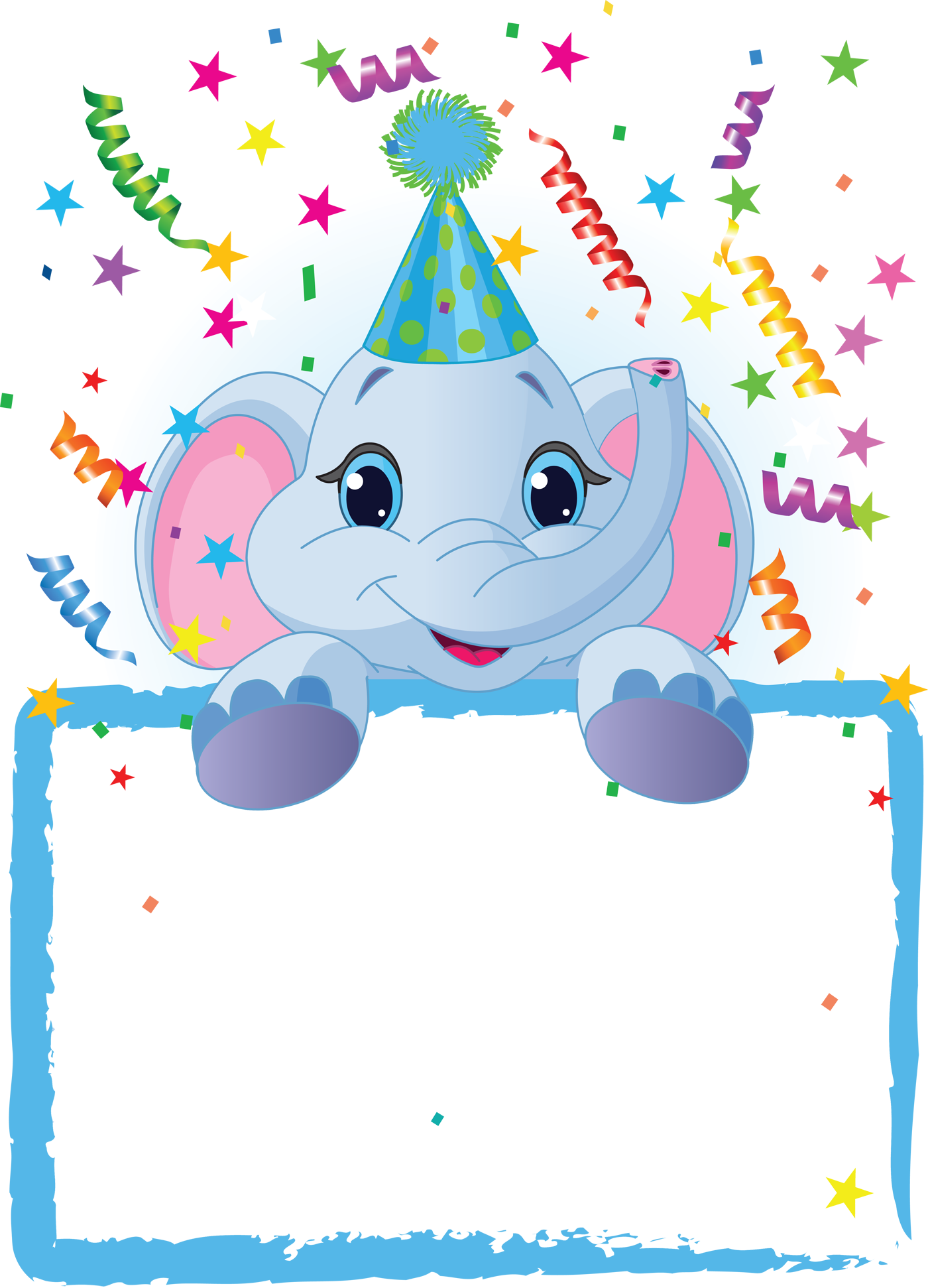 Party frame png. Transparent kids blue gallery