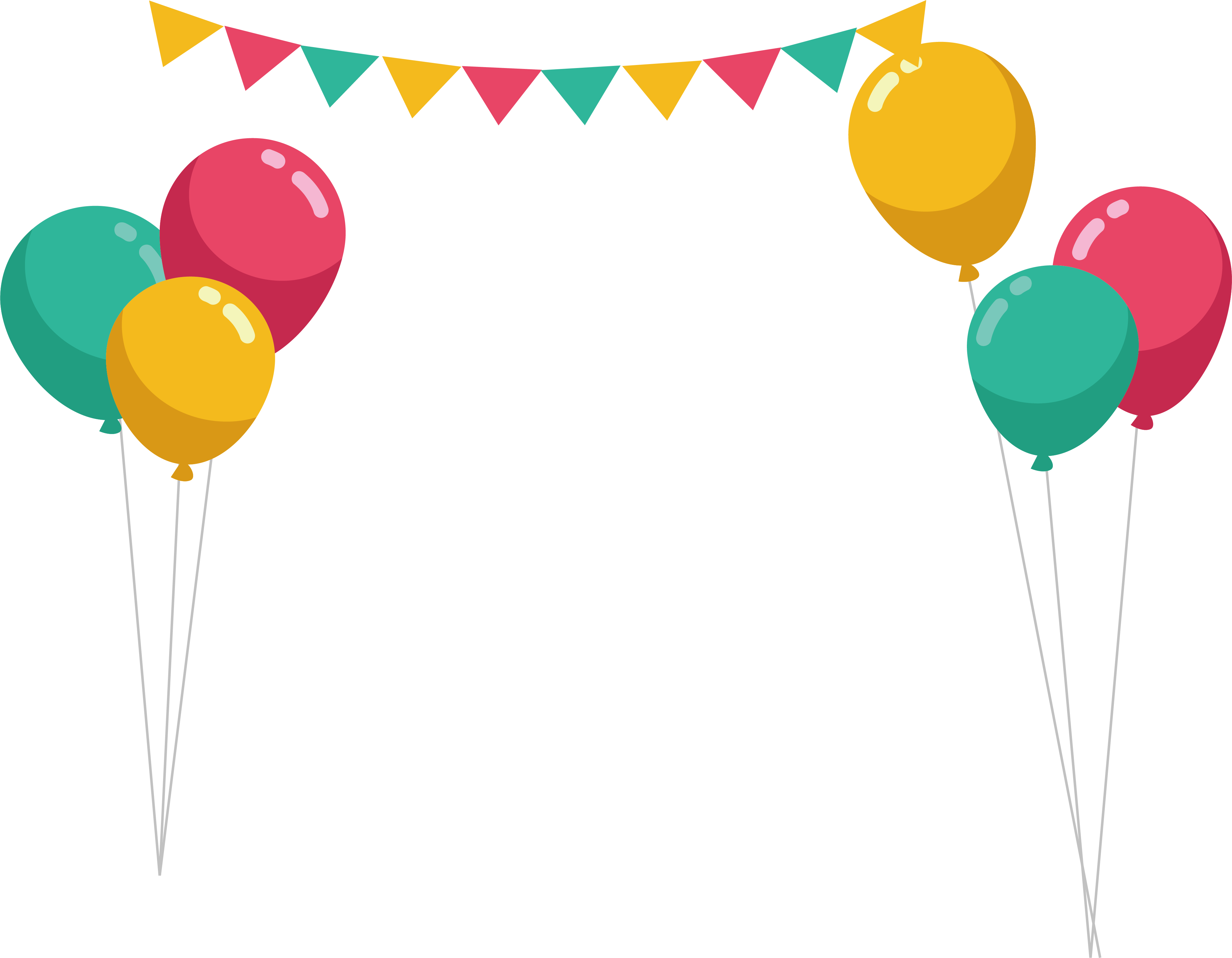 Party frame png. Balloon birthday color beam