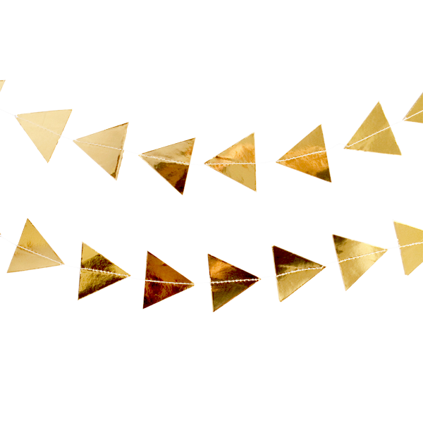 Gold streamers png. Party garland witty bash
