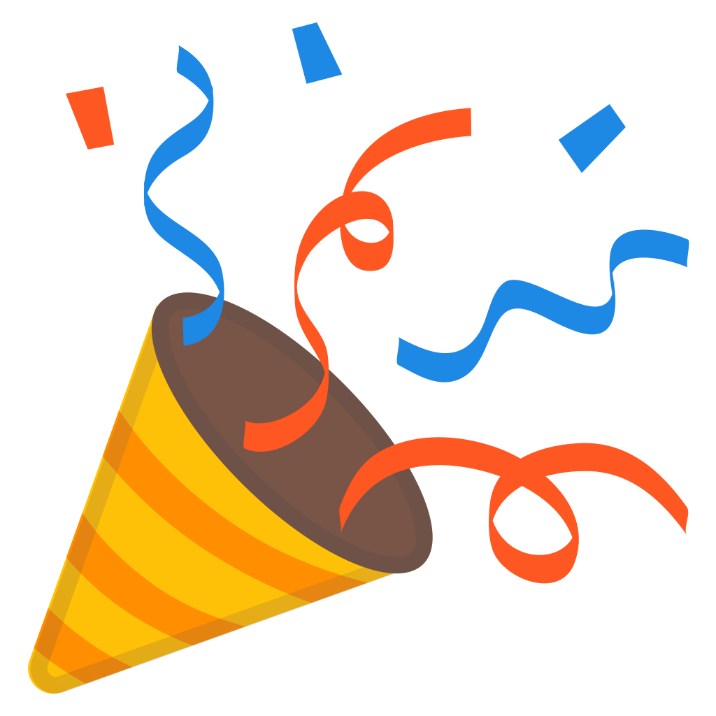Party hat emoji png. Popper icon noto activities