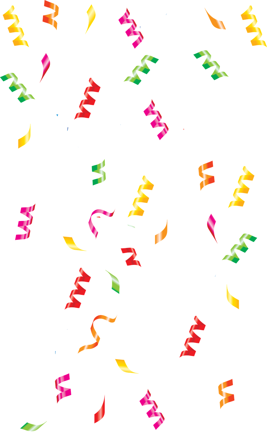 Confetti drawing birthday popper doodle. Paper party celebration clipart