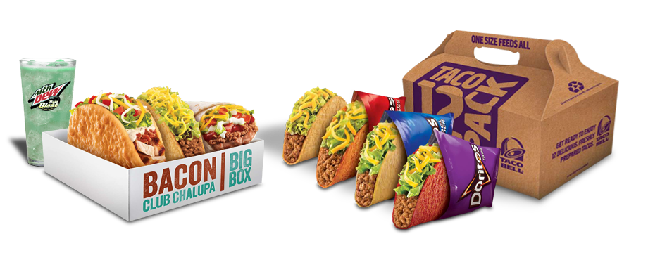 Party pack taco bell png. Featured menu items variety