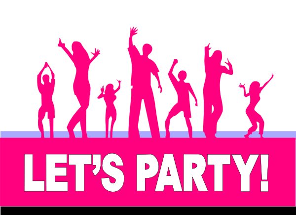 Party people dancing png. Pink lets dance clip