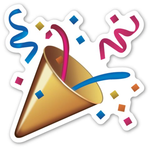 Party popper emoji png. Pinterest poppers emojis and