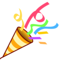 Party poppers png. Popper on emojidex