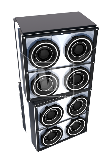 Speakers transparent stock