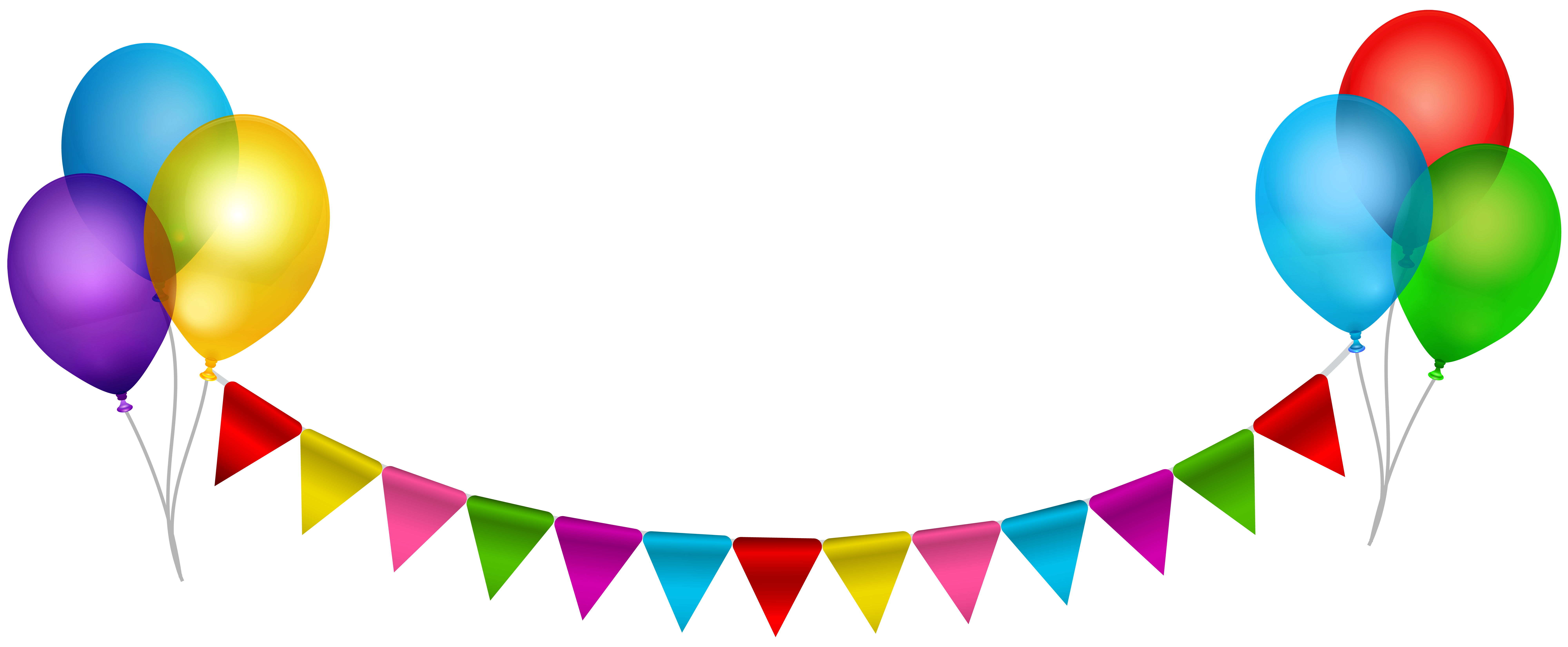 Party streamers png. Streamer with balloons transparent