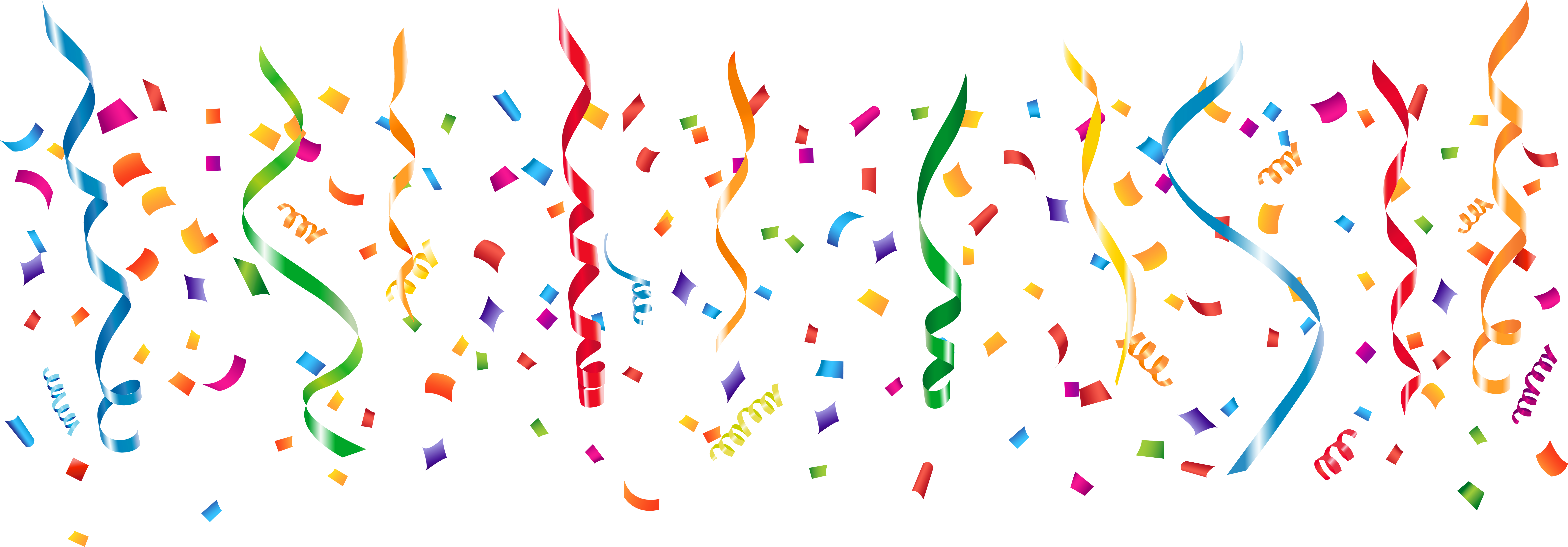 Party streamers png. Download decoration image with
